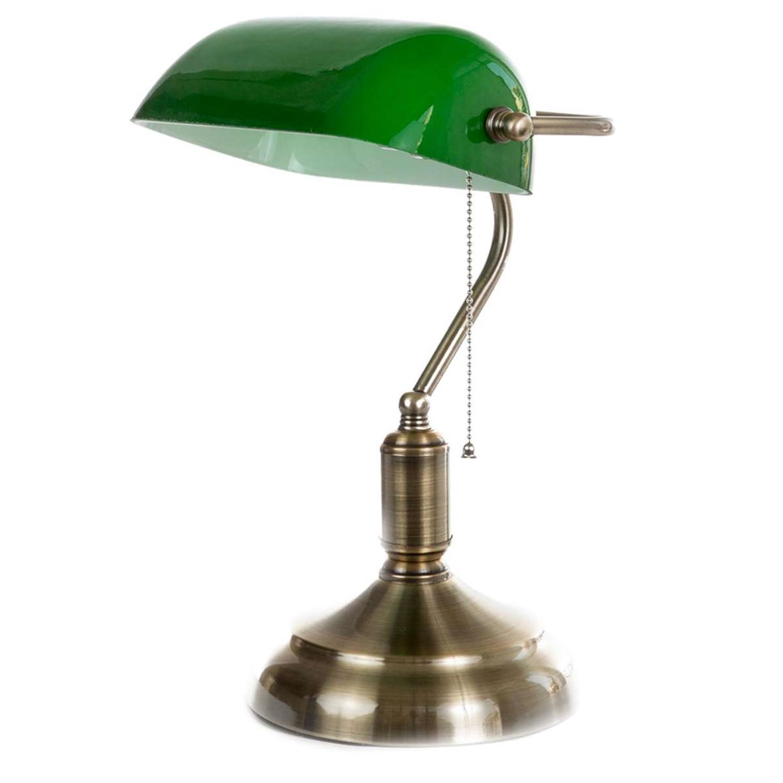 Φωτιστικό επιτραπέζιο μεταλλικό/γυάλινο οξυντέ/πράσινο 18x38cm Inlight 3431GREEN