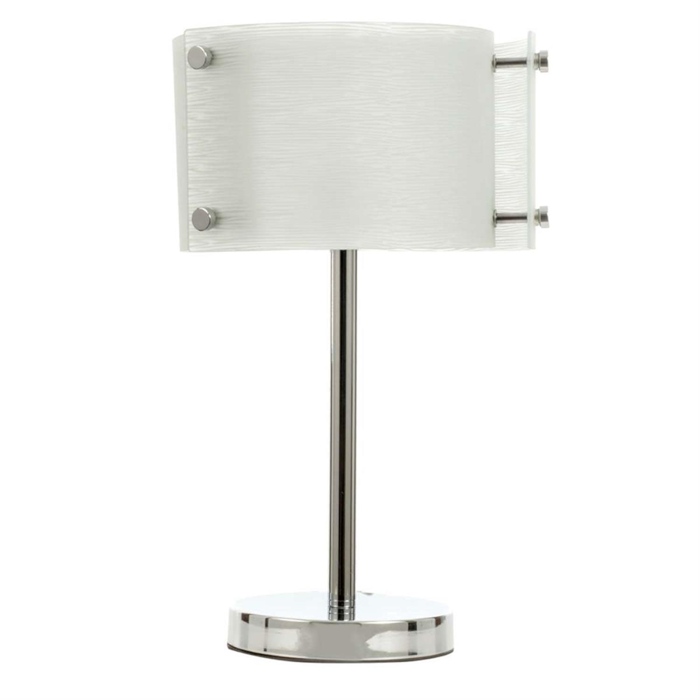 Φωτιστικό επιτραπέζιο μεταλλικό/γυάλινο χρώμιο 24x40cm InLight 3394 Inlight 3394