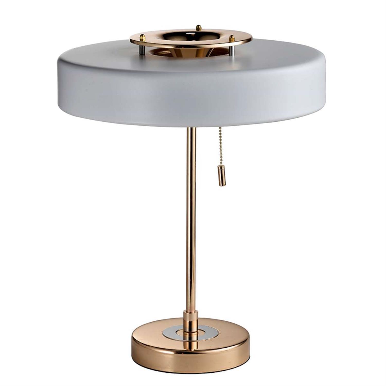 Φωτιστικό επιτραπέζιο τρίφωτο χρυσό μέταλλο 35x44cm Inlight 3448
