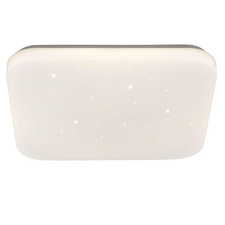 Πλαφονιέρα τετράγωνη με λευκό γυαλιστερό ακρυλικό κάλυμμα 43,5cm Inlight 42163-B