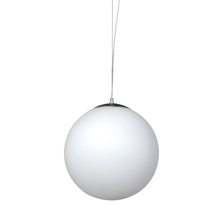 Φωτιστικό οροφής μονόφωτο κρεμαστό με λευκή οπαλίνα 50cm Inlight 4253-A