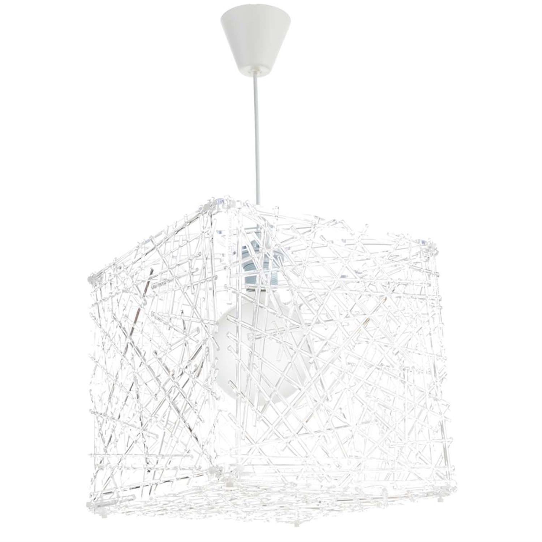 Φωτιστικό οροφής μονόφωτο κρεμαστό Κύβος plexiglass διάφανο 30x30cm Inlight 4339-TRANSPARENT