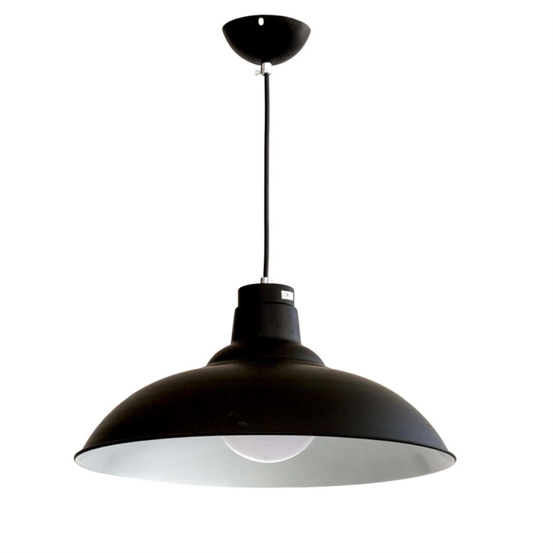 Φωτιστικό οροφής μέταλλο μαύρο άσπρο Inlight 4394