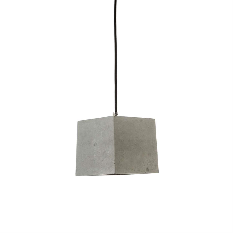 Φωτιστικό οροφής κρεμαστό μονόφωτο τσιμεντένιο γκρι 15.5×14.5cm Inlight 4404