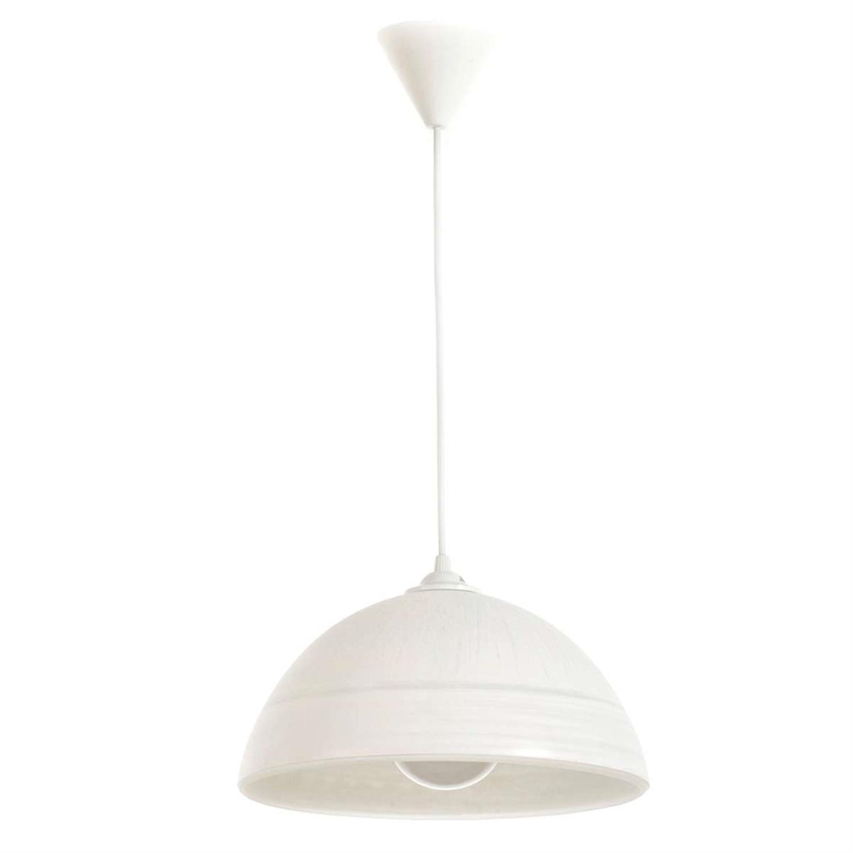 Φωτιστικό οροφής μονόφωτο κρεμαστό με γυαλί λευκό 30×16-96cm Inlight 4409-B-WHITE