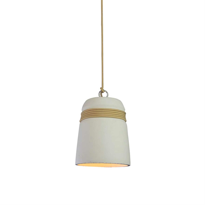Φωτιστικό οροφής κρεμαστό μονόφωτο τσιμεντένιο γκρι ανοιχτό/καφέ 18x27cm Inlight 4450