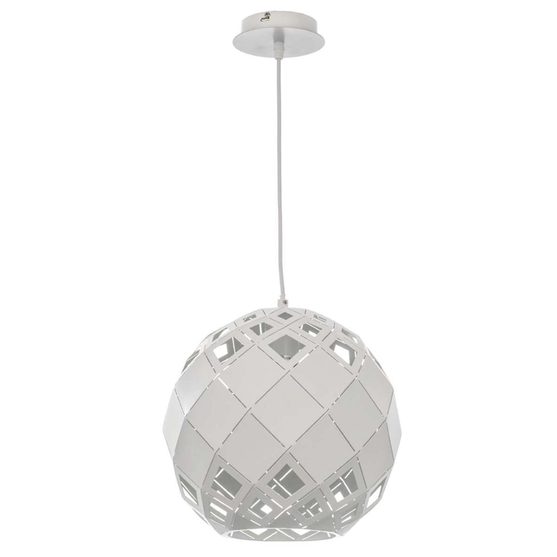 Φωτιστικό οροφής μονόφωτο κρεμαστό μεταλλικό λευκό 40cm Inlight 4478-B-WHITE