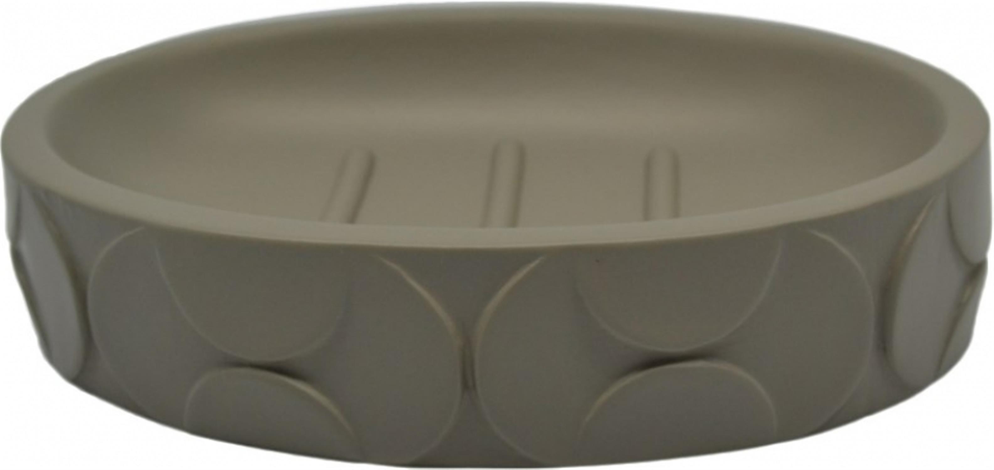 Σαπουνοθήκη μπάνιου σε γκρι χρώμα με ανάγλυφα σχέδια 12.5×8.5×2.5 cm.