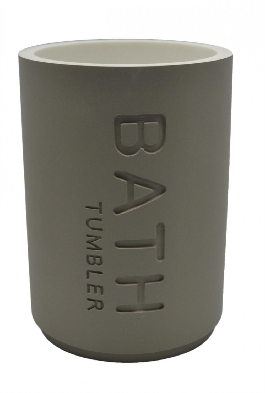 Ποτηράκι μπάνιου γκρι BATH 7.5x12cm