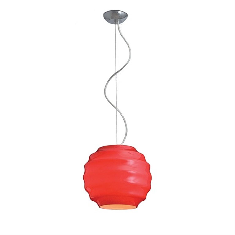 Φωτιστικό οροφής μονόφωτο διπλή οπαλίνα κόκκινο Honey 30cm Home Lighting 77-1110