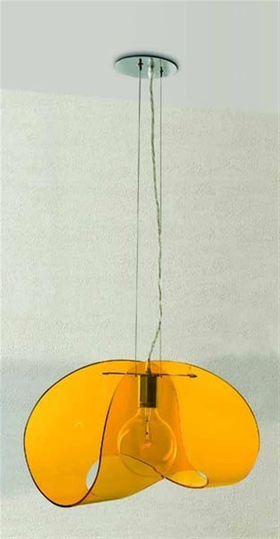 Φωτιστικό οροφής μονόφωτο ακρυλικό πορτοκαλί lolly 44cm Home Lighting 77-1154