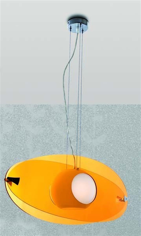 Φωτιστικό οροφής μονόφωτο ακρυλικό οπαλίνα πορτοκαλί Pop 70cm Home Lighting 77-1156