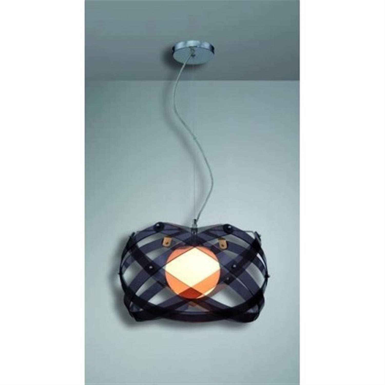 Φωτιστικό οροφής μονόφωτο plexi glass με ανάρτηση χρωμίου φιμέ Amarilys 45x120cm Home Lighting 77-1539
