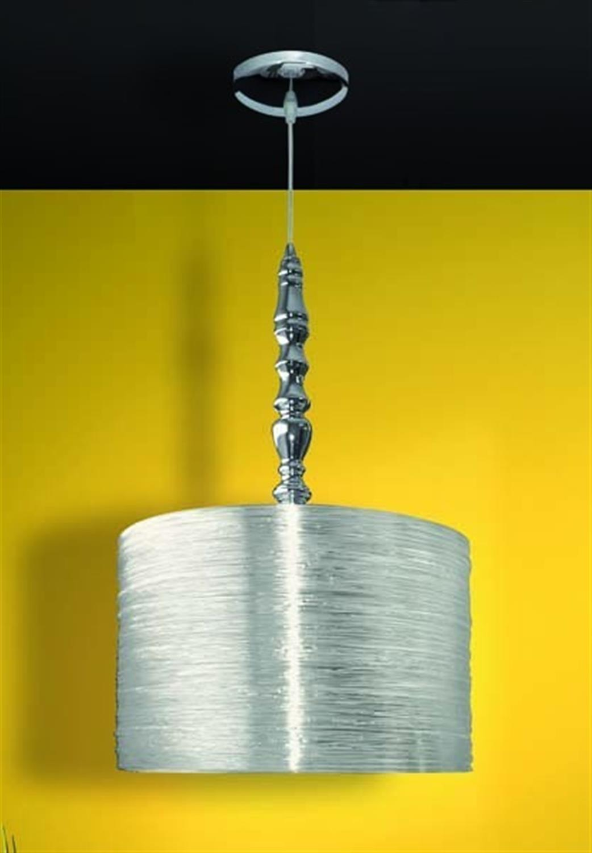 Φωτιστικό οροφής μονόφωτο ακριλικό με ανάρτηση χρωμίου διάφανο Acrilic Fan 38x150cm Home Lighting 77-1794