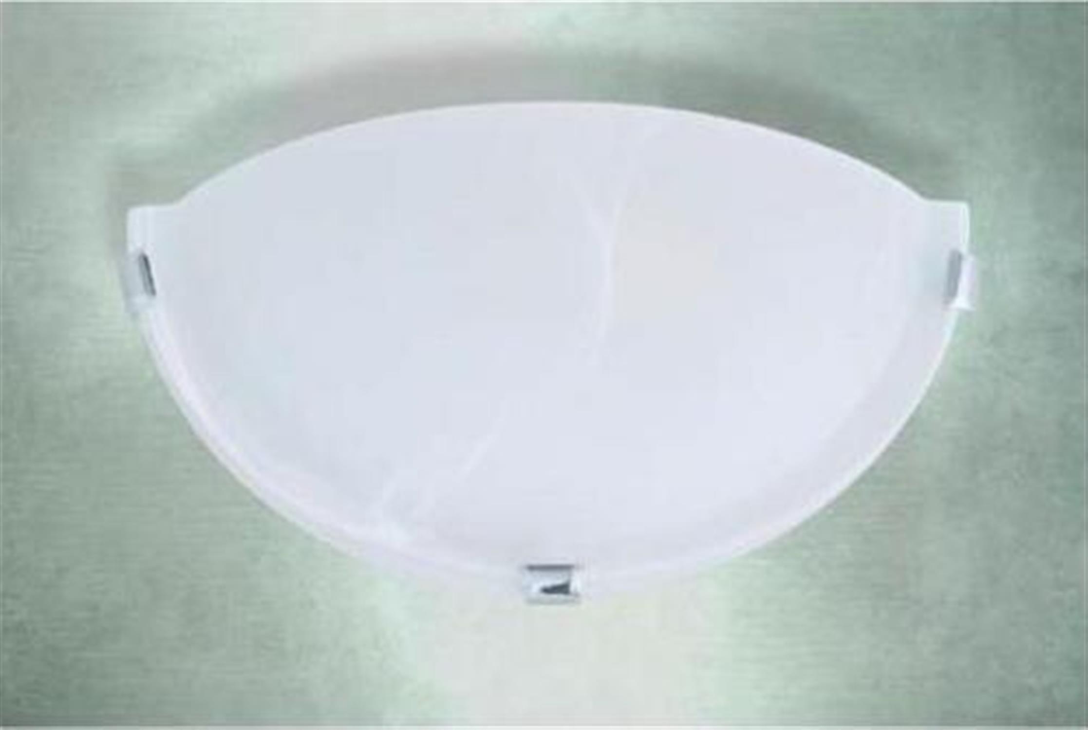 Πλαφονιέρα μονόφωτη από γυαλί μουράνο λευκό γαντζάκι χρωμίου Lara 30x12cm Home Lighting 77-2101
