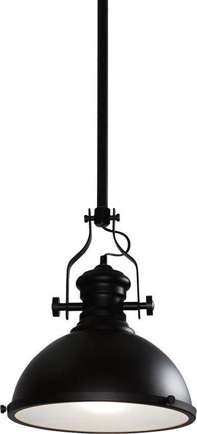 Φωτιστικό οροφής μονόφωτο μεταλλικό μαύρο γυάλινο αμμοβολή Ona 31x35x100cm Home Lighting 77-2149