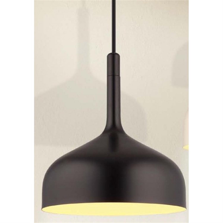 Φωτιστικό οροφής μονόφωτο αλουμίνιο μαύρο ματ μπεζ Eos 30x34cm Home Lighting 77-2179