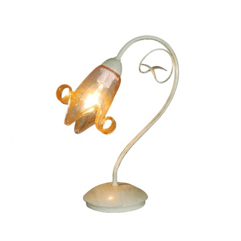 Φωτιστικό επιτραπέζιο μονόφωτο μεταλλικό μπεζ χρυσό πατίνα γυαλί Mome 25x35cm Home Lighting 77-3356