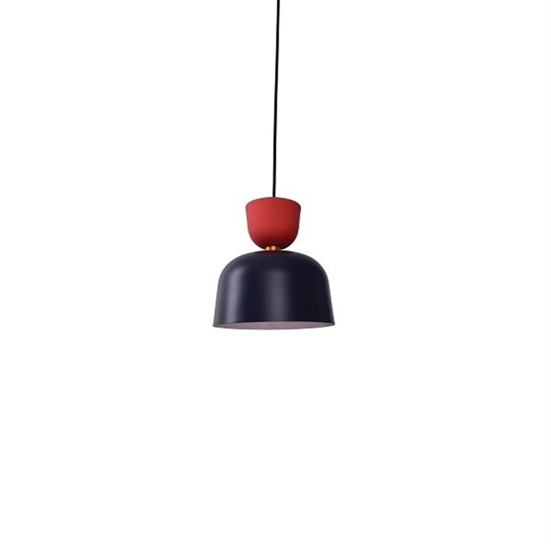 Φωτιστικό οροφής μονόφωτο αλουμινίου σκούρο μπλε κόκκινο καφέ παστέλ Beth 27x29x120cm Home Lighting 77-3525
