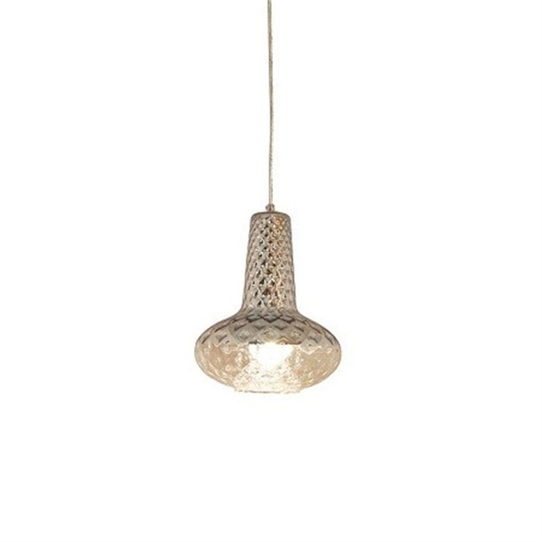 Φωτιστικό οροφής μονόφωτο χειροποίητο γυαλί χρώμιο Fivos 25x30x120cm Home Lighting 77-3624