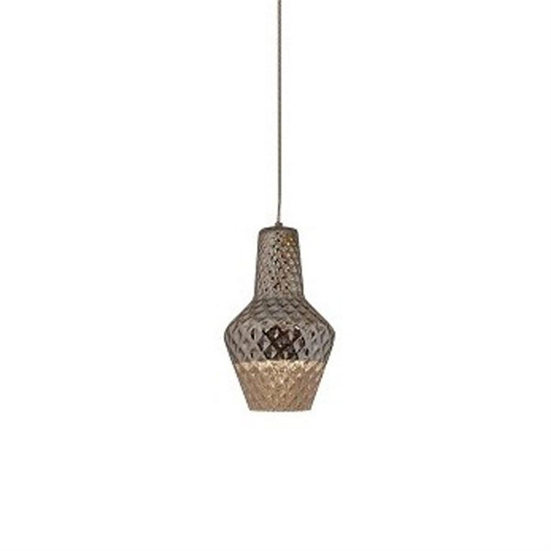 Φωτιστικό οροφής μονόφωτο χειροποίητο γυαλί χρώμιο Athina 18x30x120cm Home Lighting 77-3626
