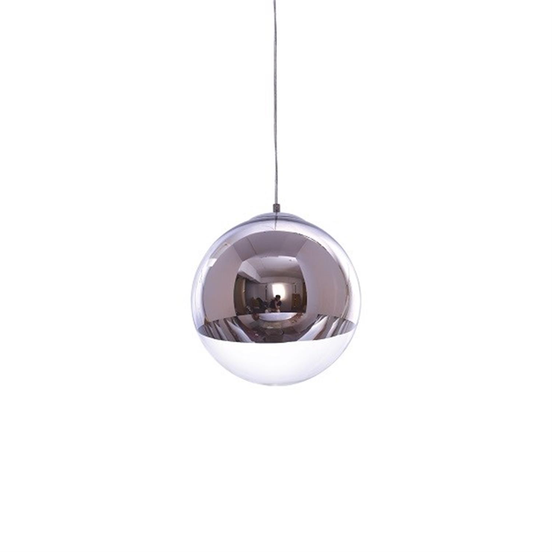 Φωτιστικό οροφής μονόφωτο γυάλινη μπάλα χρωμίου διάφανο γυαλί Alessia 30x120cm Home Lighting 77-3707