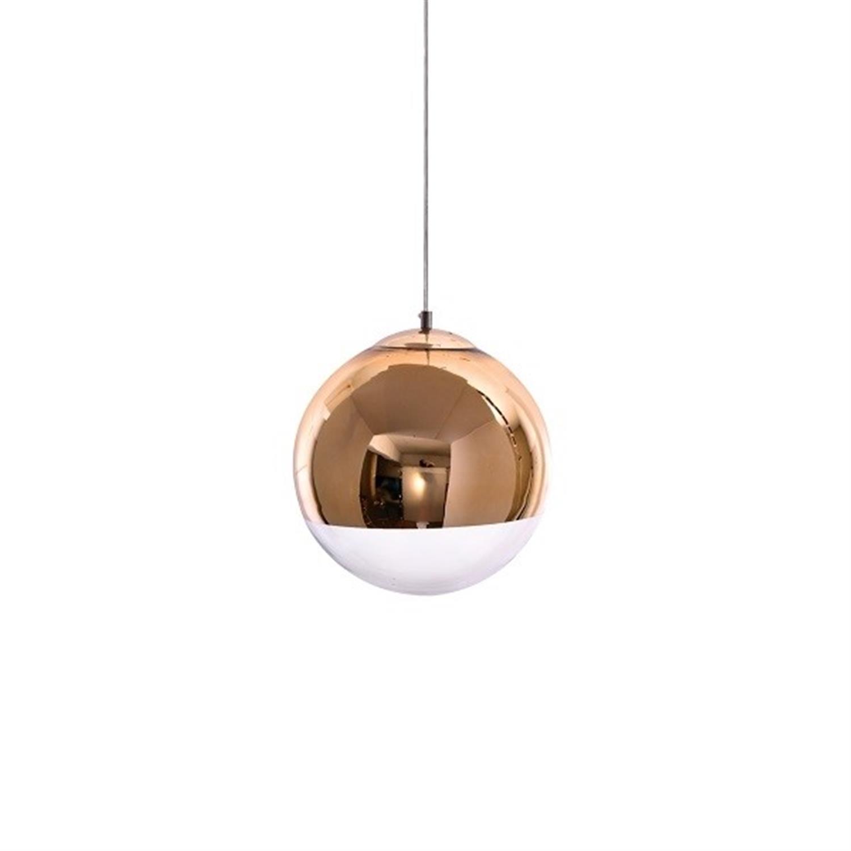 Φωτιστικό οροφής μονόφωτο γυάλινη μπάλα χρυσή διάφανο γυαλί Alessia 30x120cm Home Lighting 77-3708