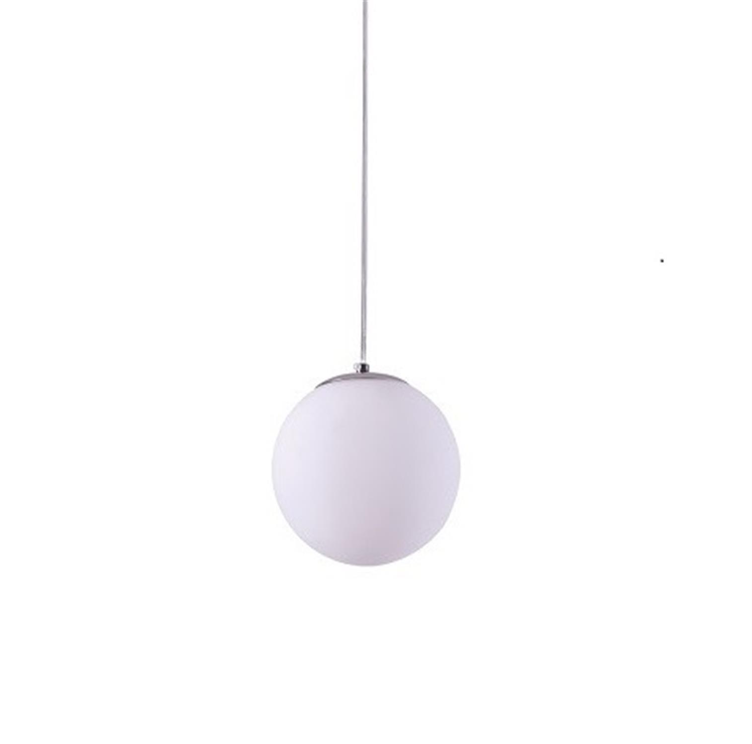 Φωτιστικό οροφής μονόφωτο μεταλλικό χρωμίου με χειροποίητη οπαλίνα λευκή Alessia 20x120cm Home Lighting 77-3710