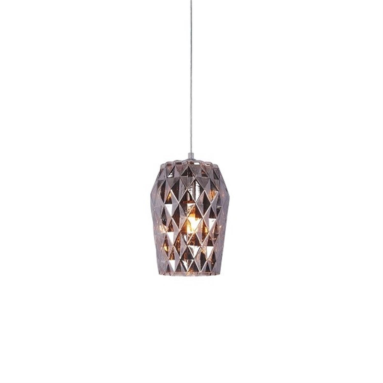 Φωτιστικό οροφής μονόφωτο χειροποίητο γυάλινο ανθρακί Luca 15x24x120cm Home Lighting 77-3721