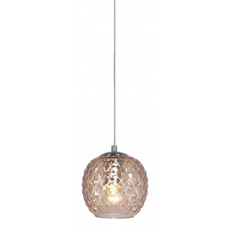 Φωτιστικό οροφής μονόφωτο χειροποίητο γυάλινο κονιάκ Veronica 15x14x120cm Home Lighting 77-3725