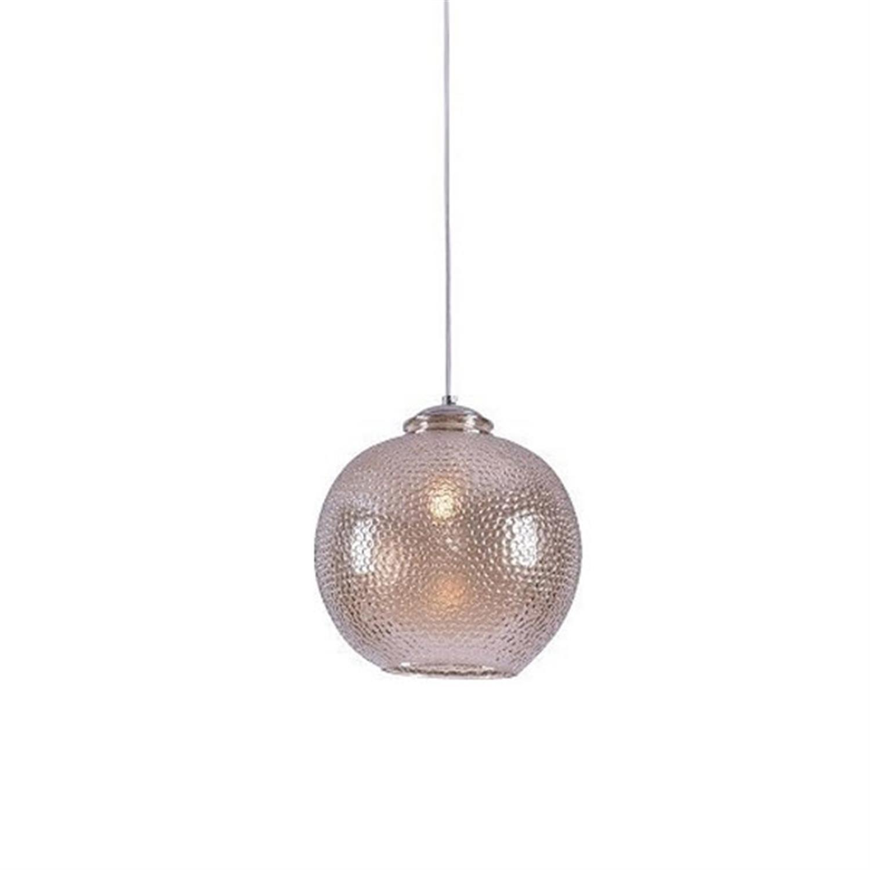Φωτιστικό οροφής μονόφωτο με χειροποίητο γυαλί μελί Marzia 25x120cm Home Lighting 77-3744