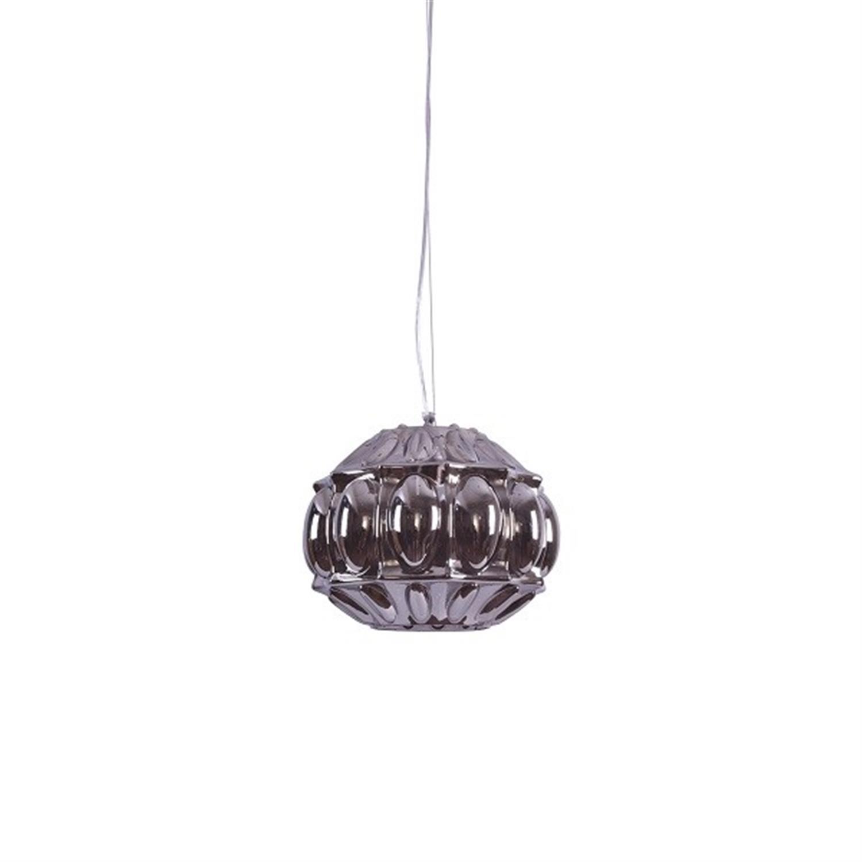 Φωτιστικό οροφής μονόφωτο με χειροποίητο γυαλί ανθρακί Nadia 30x37x120cm Home Lighting 77-3745