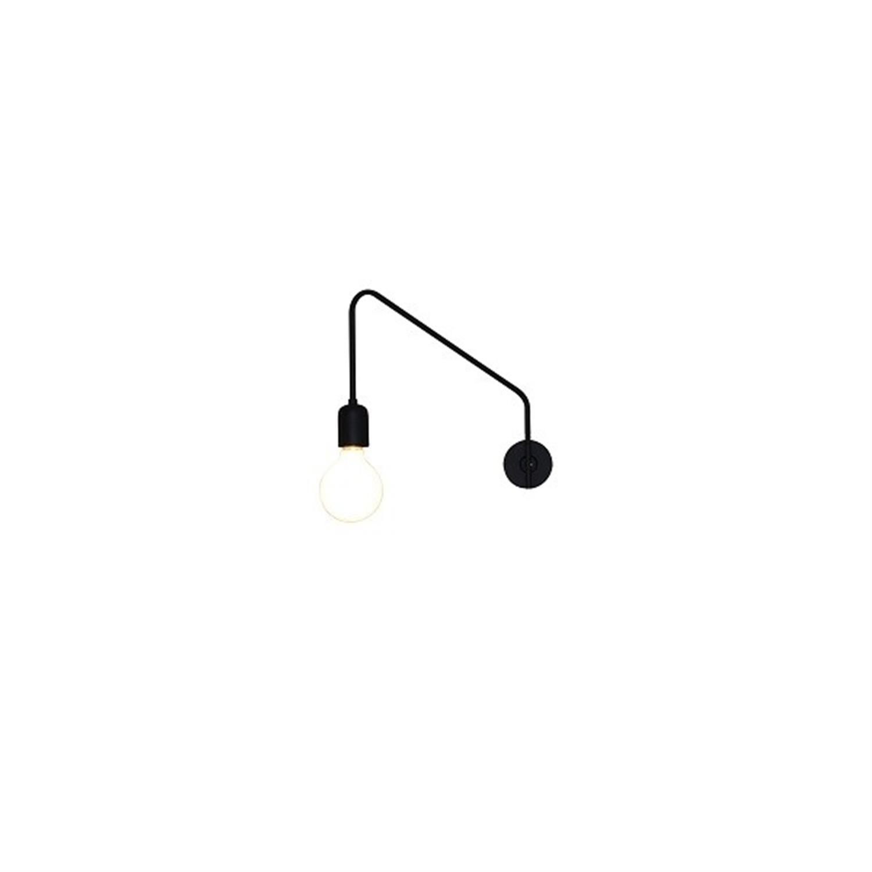 Απλίκα μονόφωτη μεταλλική μαύρη Emily Δ-35.5×24εκ Home Lighting 77-3965