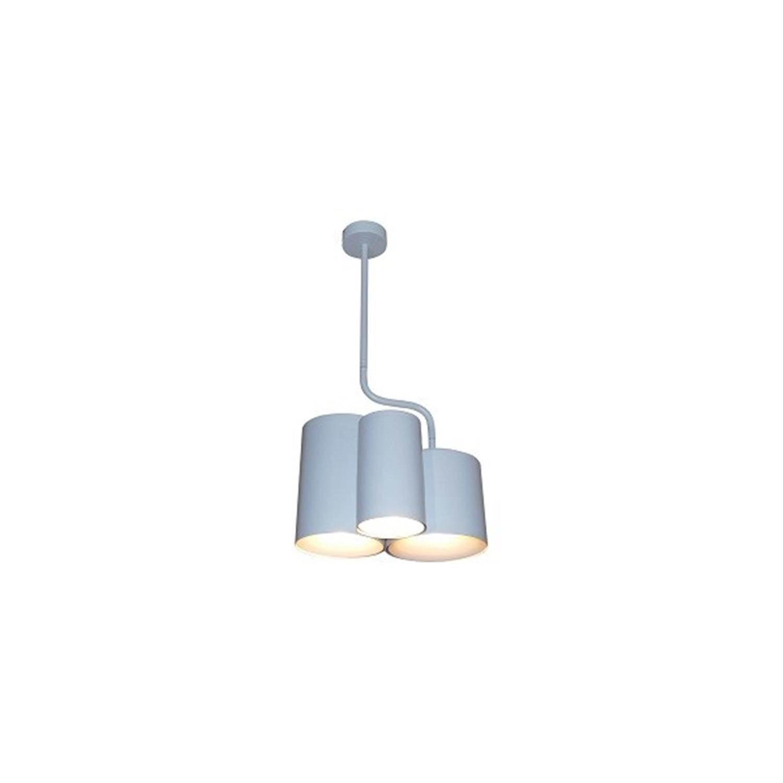 Φωτιστικό οροφής κρεμαστό 3φωτο μεταλλικό ματ λευκό Brody 30×58εκ Home Lighting 77-3986