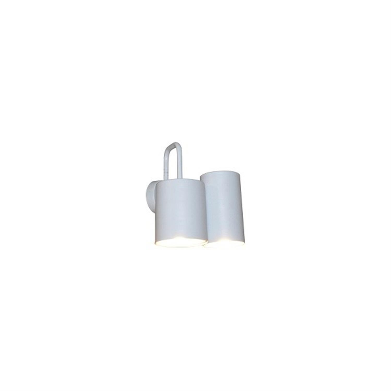 Απλίκα 2φωτη μεταλλική λευκή Brody 21×25εκ Home Lighting 77-3987