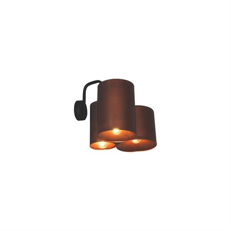 Απλίκα 3φωτη μεταλλική αντικέ copper μαύρο Brody 30×30εκ Home Lighting 77-3992