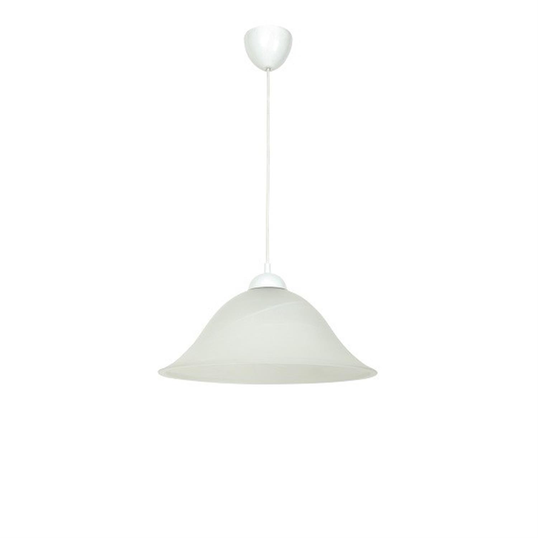 Φωτιστικό οροφής μονόφωτο χειροποίητο γυάλινο λευκό Lia 37x120cm Home Lighting 77-4371