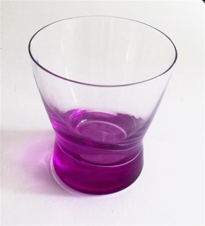 Ποτήρι ουίσκι γυάλινο με μωβ πάτο σετ 6 τεμαχίων