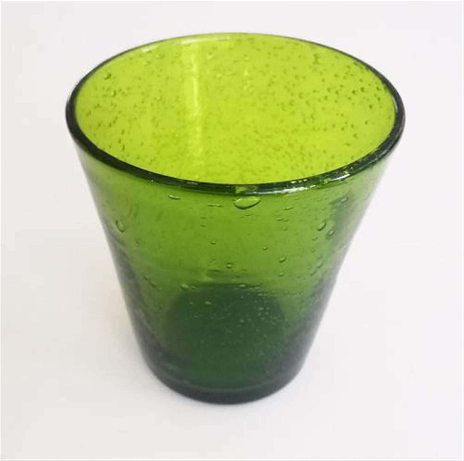 Ποτήρι ουίσκι πράσινο με φυσαλίδες σετ 6 τεμαχίων