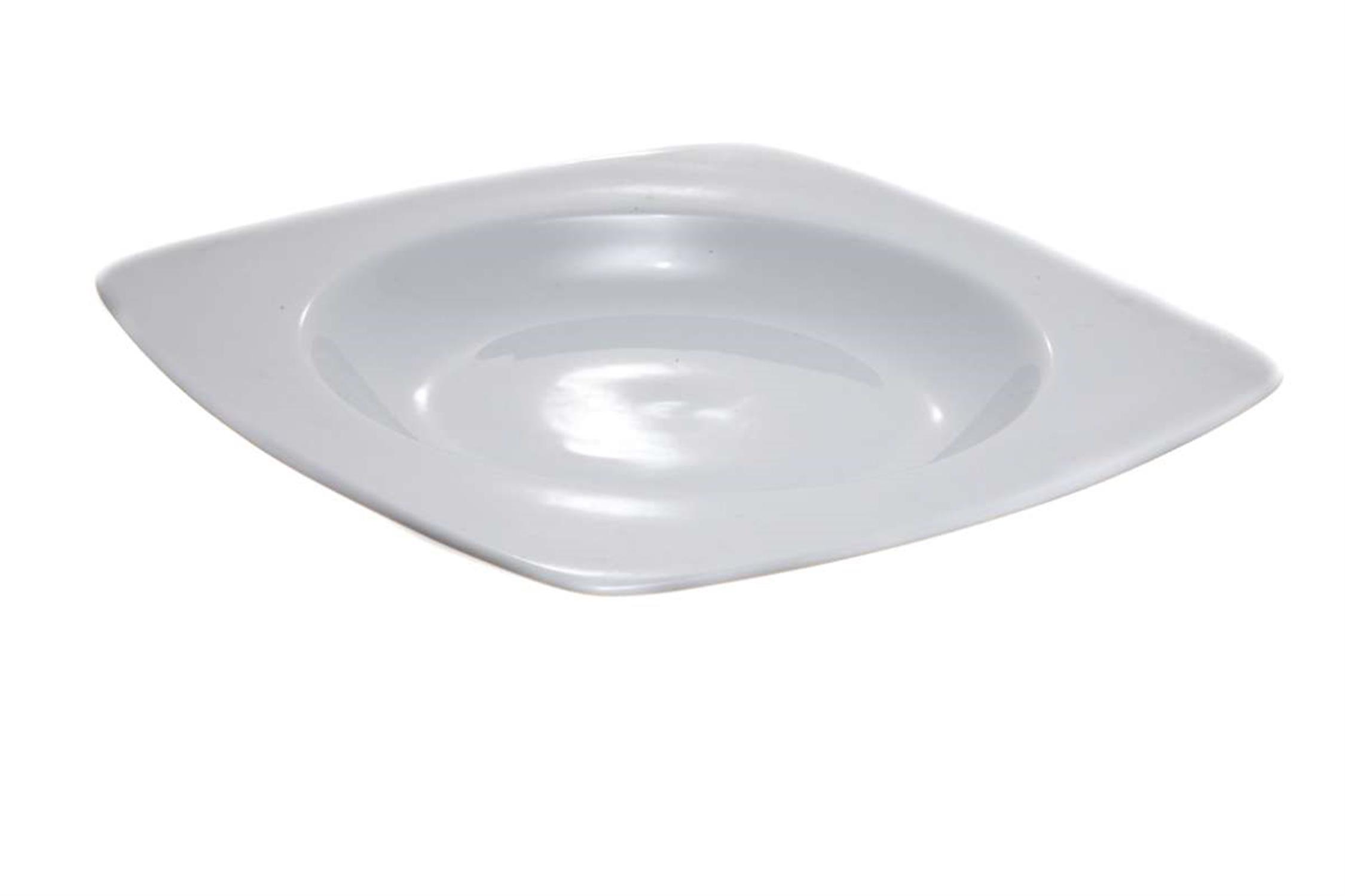 Πιάτο βαθύ με γείσο τετράγωνο πορσελάνινο 24.5cm