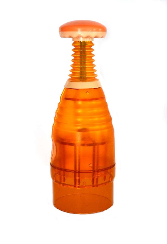 Πολυκόφτης φρούτων πλαστικός πορτοκαλί 26x9cm