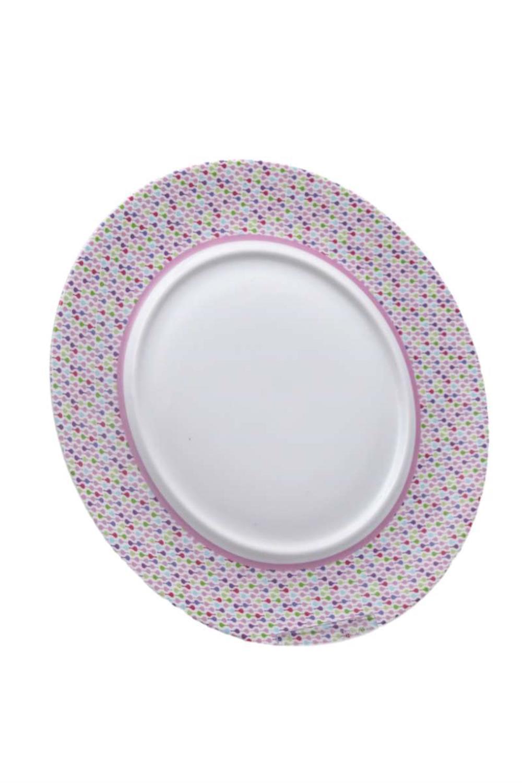 Πιάτο ρηχό πορσελάνινο ροζ γραμμικό Tognana 28cm
