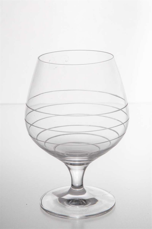 S/6 Ποτήρι κρυστάλλινο brandy λευκές γραμμές