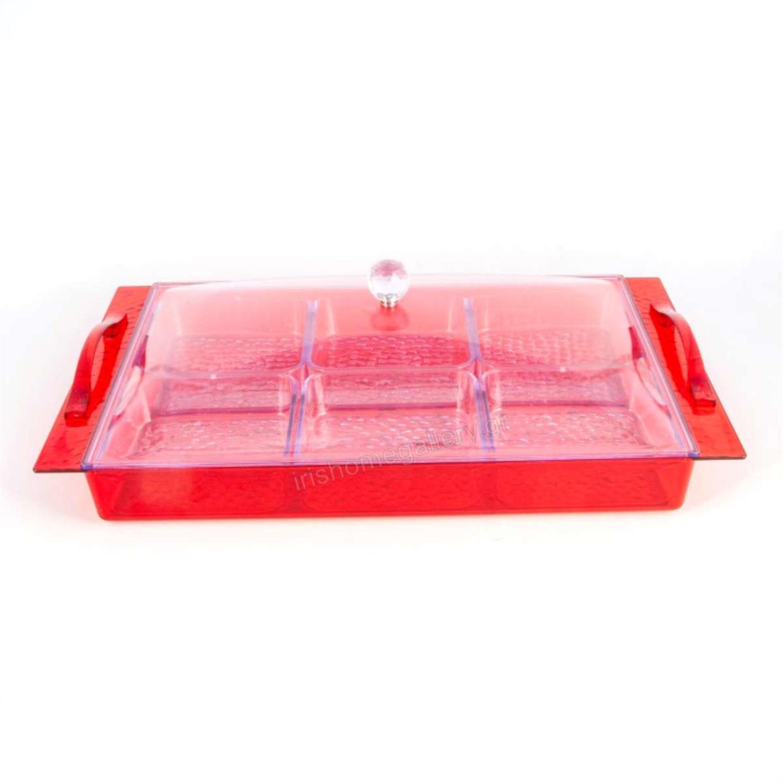 Ξηροκαρπιέρα πολλών θέσεων κόκκινη plexiglass 46x28cm