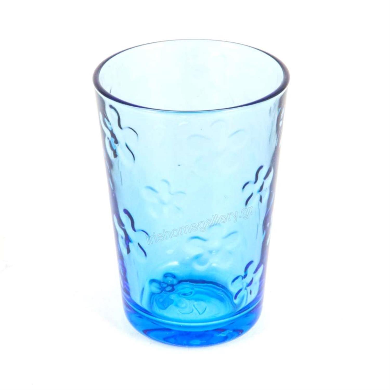 Ποτήρια σωλήνας «Flower» μπλε Υ10εκ