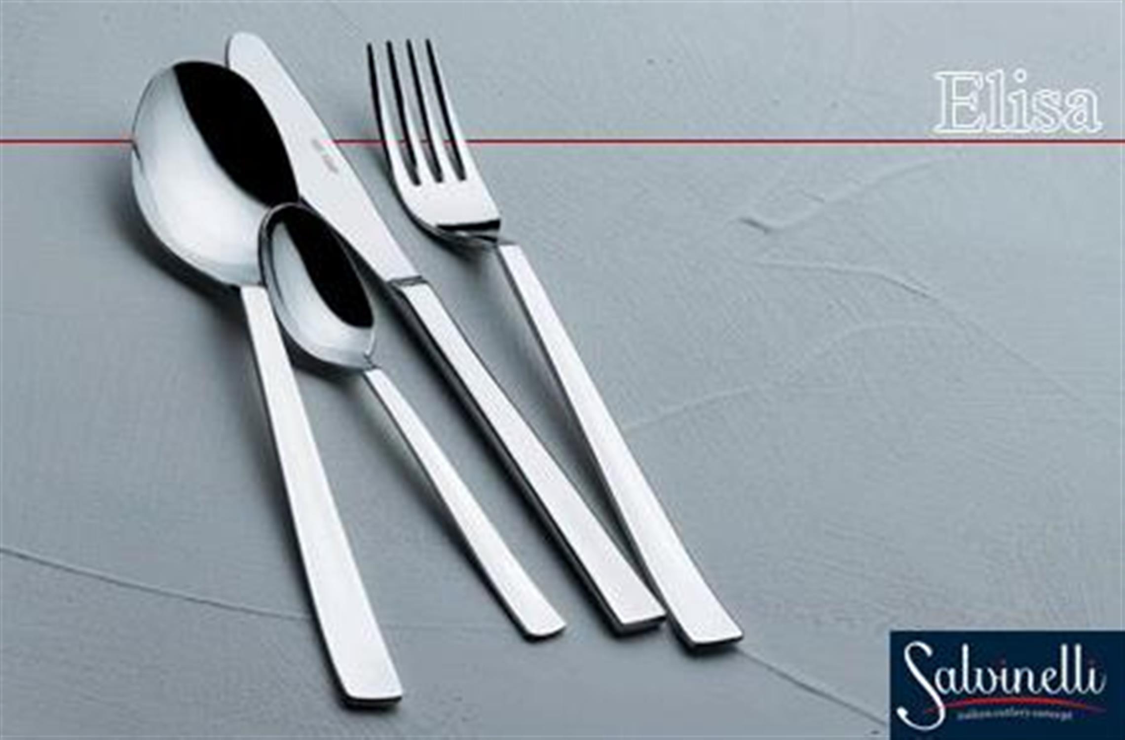 Σετ 75 μαχαιροπίρουνα ανοξείδωτα 18/10 ασημί Salvinelli Elisa