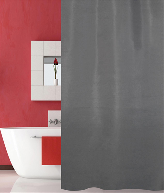 Κουρτίνα μπάνιου από ύφασμα πολυεστερικό γκρι 180x200cm San Lorentzo 1030B/GREY