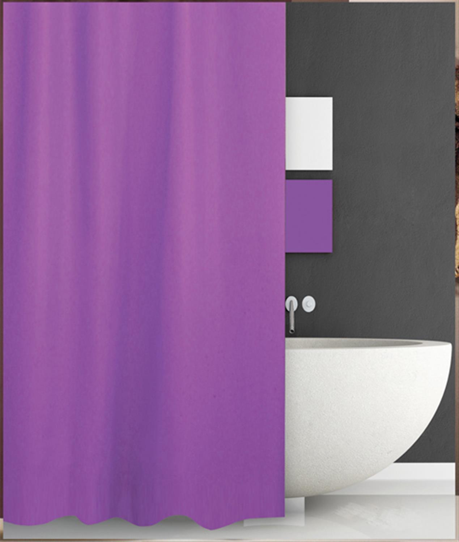 Κουρτίνα μπάνιου από ύφασμα πολυεστερικό μωβ 180x200cm San Lorentzo 1030B/PURP