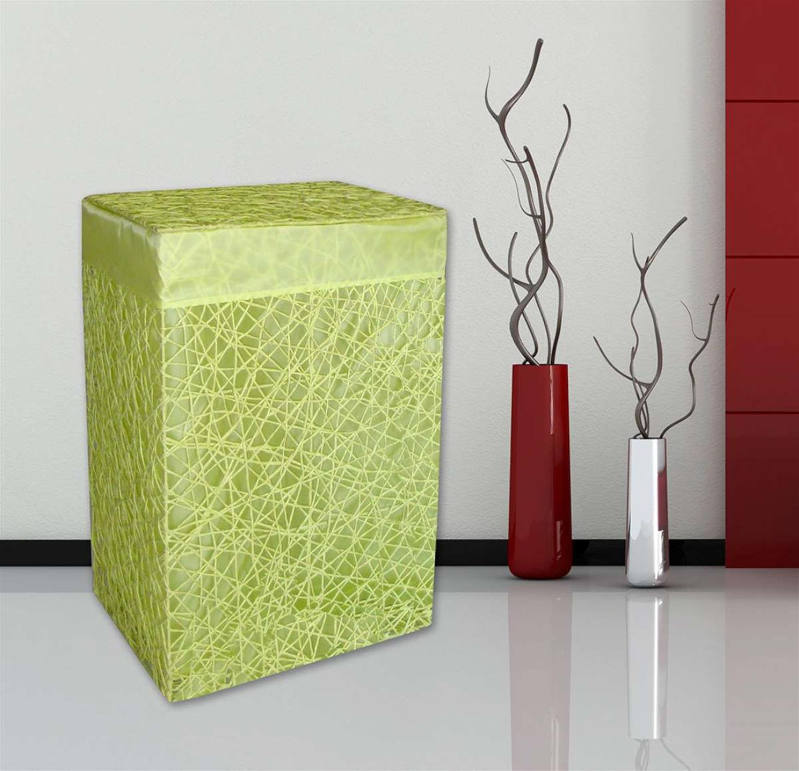 Καλάθι απλύτων σε lime απόχρωση 43x33x63cm San Lorentzo 1661/lime