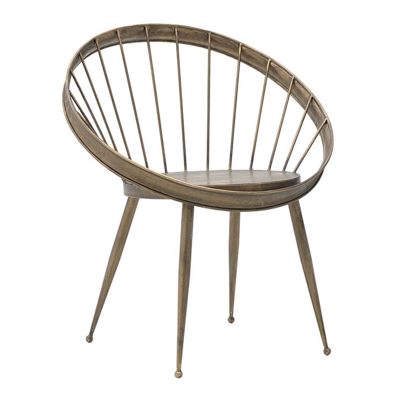 Kαρέκλα μεταλλική αντικέ χρυσή 68x59x79.5cm Inart 3-50-087-0010